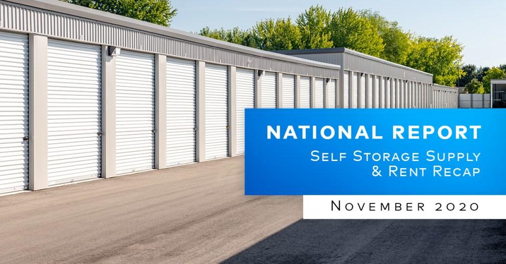 Yardi Matrix Self Storage Report November 2020