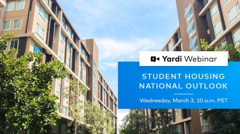 Yardi Matrix Student Housing Webinar Spring 2021