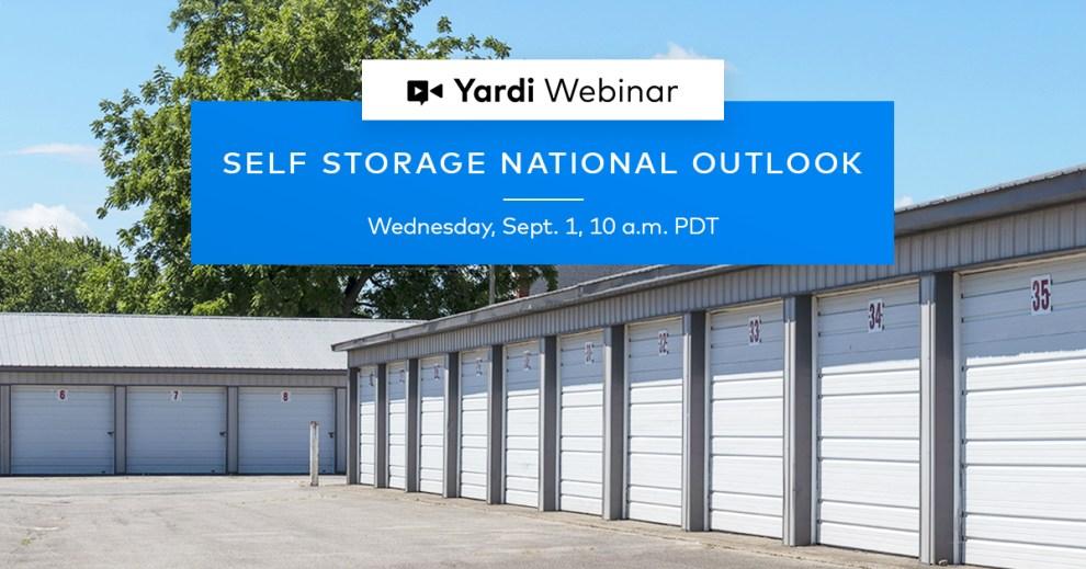 Self Storage National Outlook Webinar Fall 2021