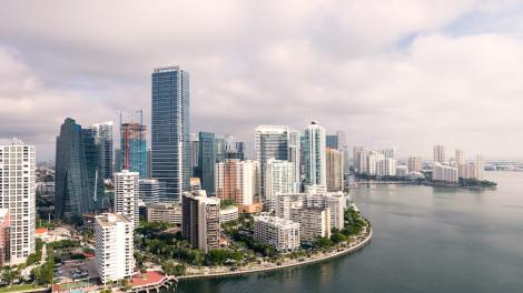 Aerial view of downtown Miami and Brickell