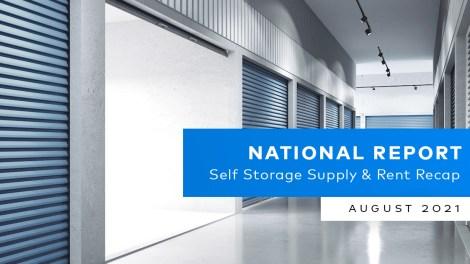 National Self Storage Market Report August 2021