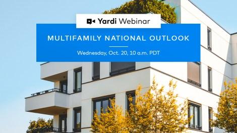 Yardi Matrix Multifamily National Outlook - Fall 2021