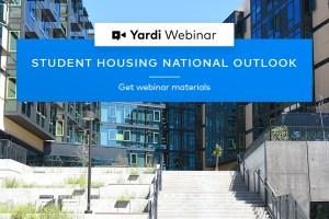 Yardi Matrix Student Housing Webinar